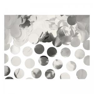 Silver konfetti stora runda flingor