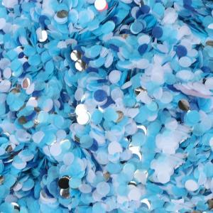 konfetti Ljusblå med guld