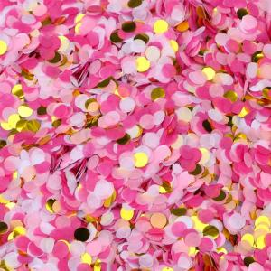 konfetti Rosa med guld