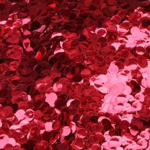 konfetti röd skinande