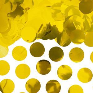 Guld konfetti stora runda flingor
