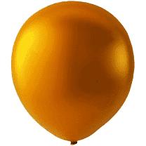Mini Latex ballonger metallic orange