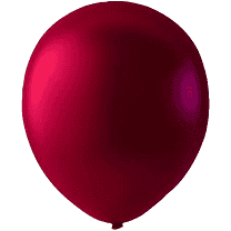 Mini Latex ballonger metallic burgundy