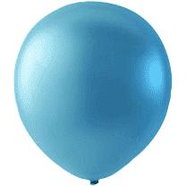 Mini Latex ballonger pärlemor blå