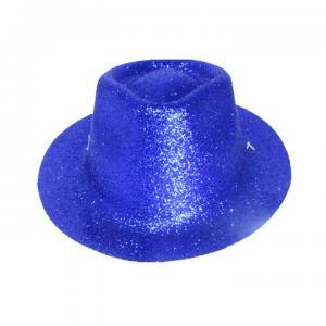 Minihat cowboy glitter blå