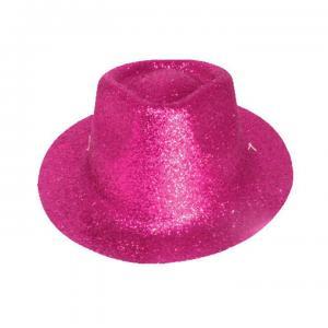 minihat cowboy glitter cerise rosa