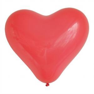 Hjärtformade ballonger Röd stor