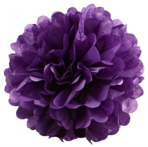 Pom Pom bollar 30cm mörk lila