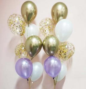 Chromékonfetti 7st latexballonger 2