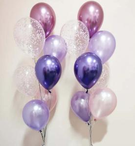 Chromékonfetti 7st latexballonger 4