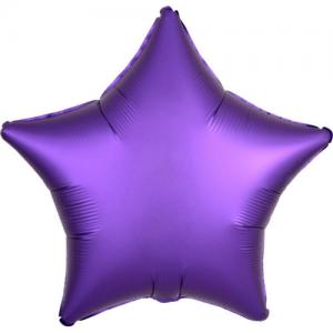 Folie ballong satin Stjärna Lila