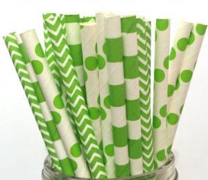 Papperssugrör lime grön mix