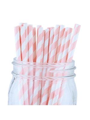 Papperssugrör ljus rosa spiral