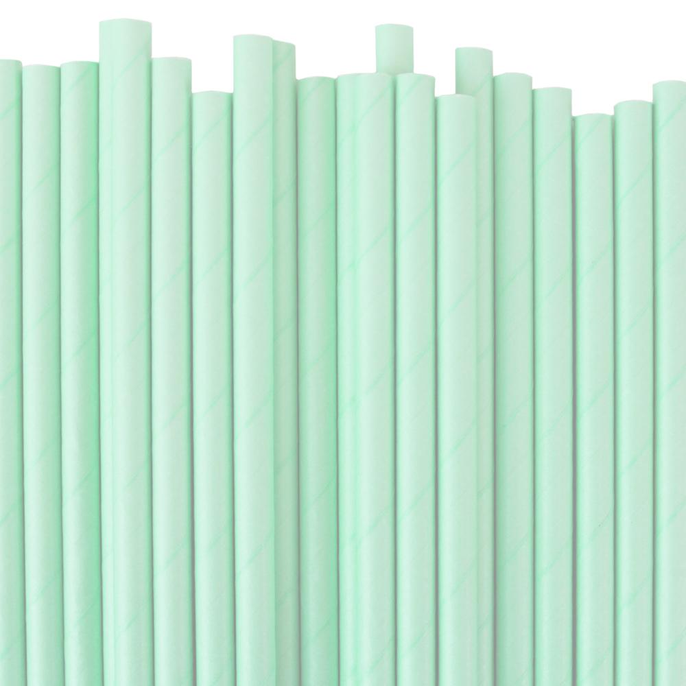 Papperssugrör pastell turkos grön