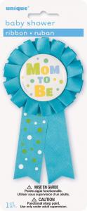Mom to be badge blå