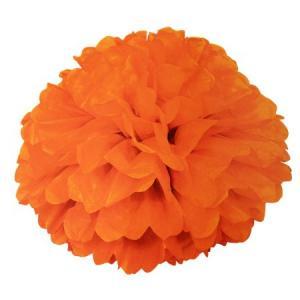 Pom Pom bollar 40cm mörk orange