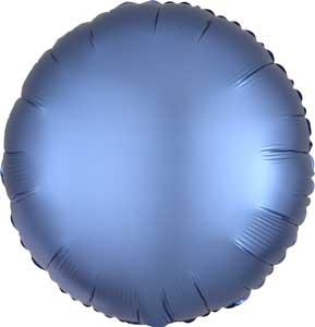Cirkel satin folieballong royalblå