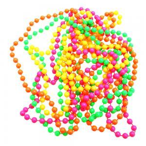 neon plast pärlhalsband  80-tal