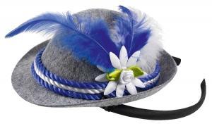 tyrolerhatt mini grå, vit och blå