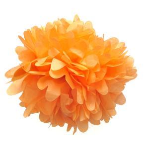 Pom Pom bollar 30cm orange
