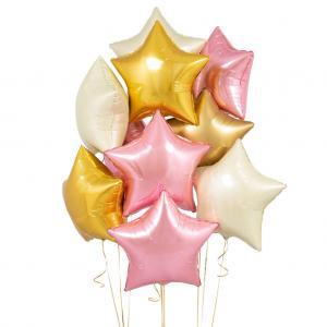 helium ballongbukett stjärnor Starlight