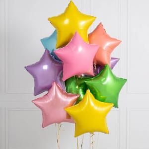helium ballongbukett stjärnor lek