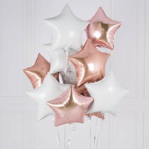 helium ballongbukett stjärnor Glamour