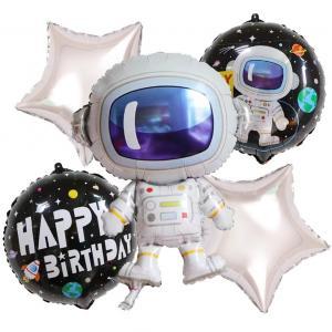 rymden Happy birthday foileballongset