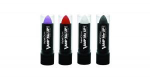 Paintglow Läppstift svart, rött & vitt
