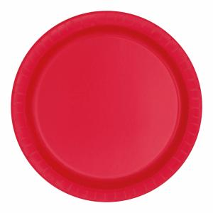 Desserttallrik Röd 20-pack
