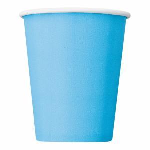 Pappersmuggar Ljusblå 14-pack