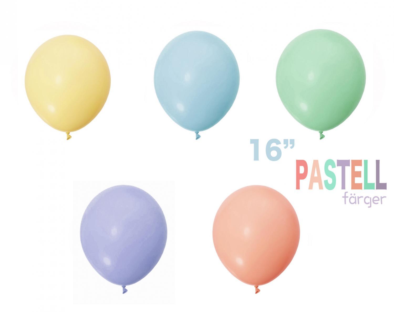 Pastel Latex Ballong 16 tum