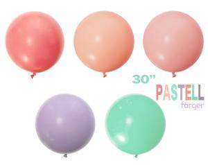 Pastel Latex Ballong 30 tum