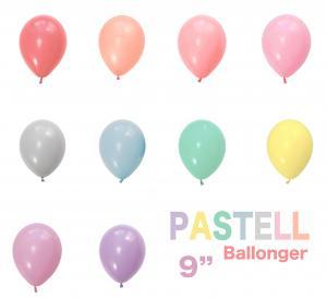 Pastell Latex Ballonger 10 olika färger