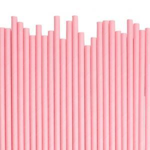 Papperssugrör pastell rosa