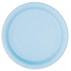 Engångstallrikar ljusblå 16st 22,8 cm