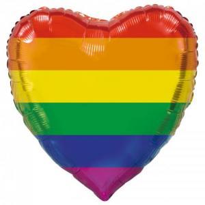 Folie ballong hjärta pride