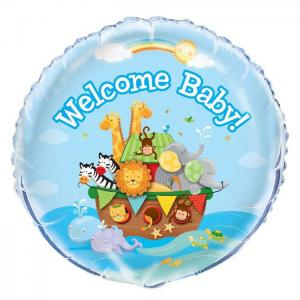 welcome baby folieballong Noahs ark