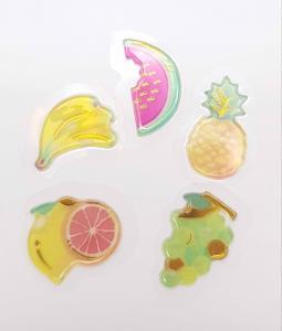 3D gélly klistermärke frukt