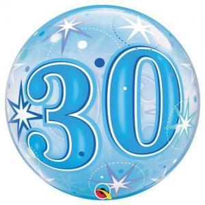 Bubbles ballong 30 år blå