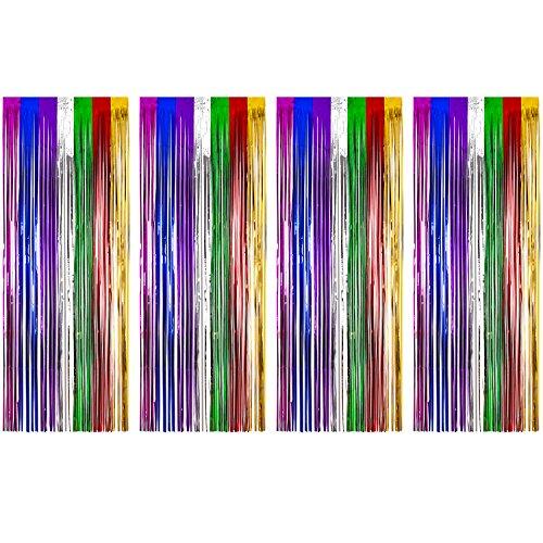 glitter Dörr draperi regnbåge
