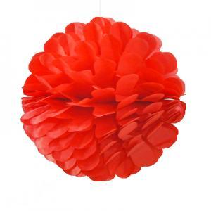 Pom Pom bollar enkel röd