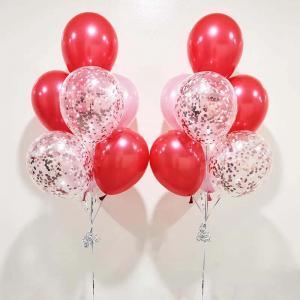 rosakonfetti 7st latexballonger