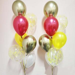 Chromékonfetti 7st latexballonger 6