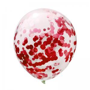 Konfetti ballong röd
