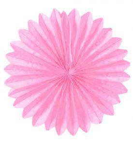 Solfjädrar dekoration 25cm rosa