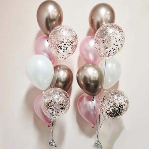 Chromékonfetti 7st latexballonger 8