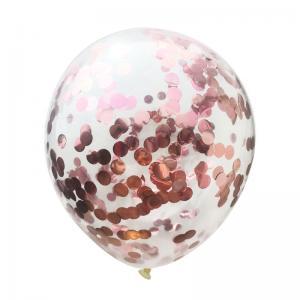 Konfetti ballong rosé guld
