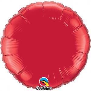 Cirkel folieballong XL rubinröd
