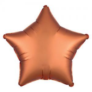 Folie ballong satin Stjärna Persika